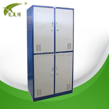 Competitive price k-d structure metal locker 4 compartment cabinet for school