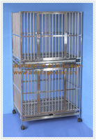 Stainless steel dog kennels and cages