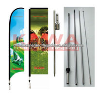 Custom polyester beach banner with pole
