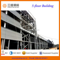 High Quality prefabricated Multi-storey steel structural Building