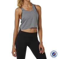 Hot sale wholesale activewear singlet gym zoned mesh design tank top