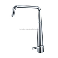Single Handle CE Brushed Nickel European Durable Brass Kitchen Faucet