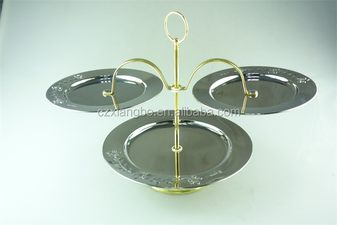 Stainless steel wedding serving/sliver candy dishes/decorative fruit plate