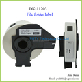 Compatible die-cut Thermal Paper DK-11203 Sticker Labels DK11203 for Brother 17MM*87MM Black on White