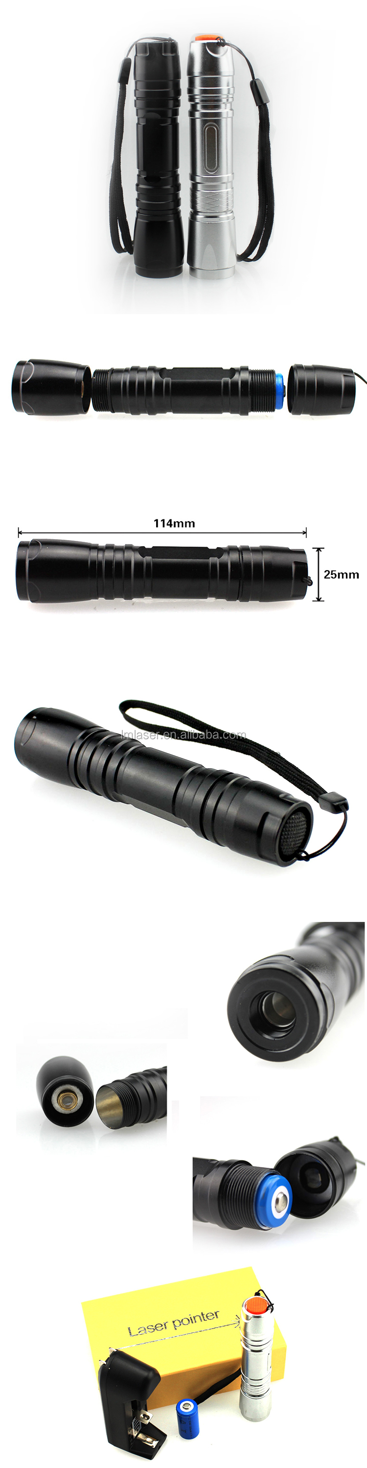 650nm red laser pointer 200mw waterproof focused