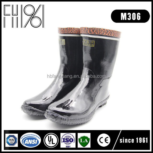 China exporting 15KV rubber insulation cheap coal mining high heel safety boots