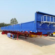China High Quality 40ton Cargo Transport Light Weight Side Open Trailer Standard Dimensions for sale
