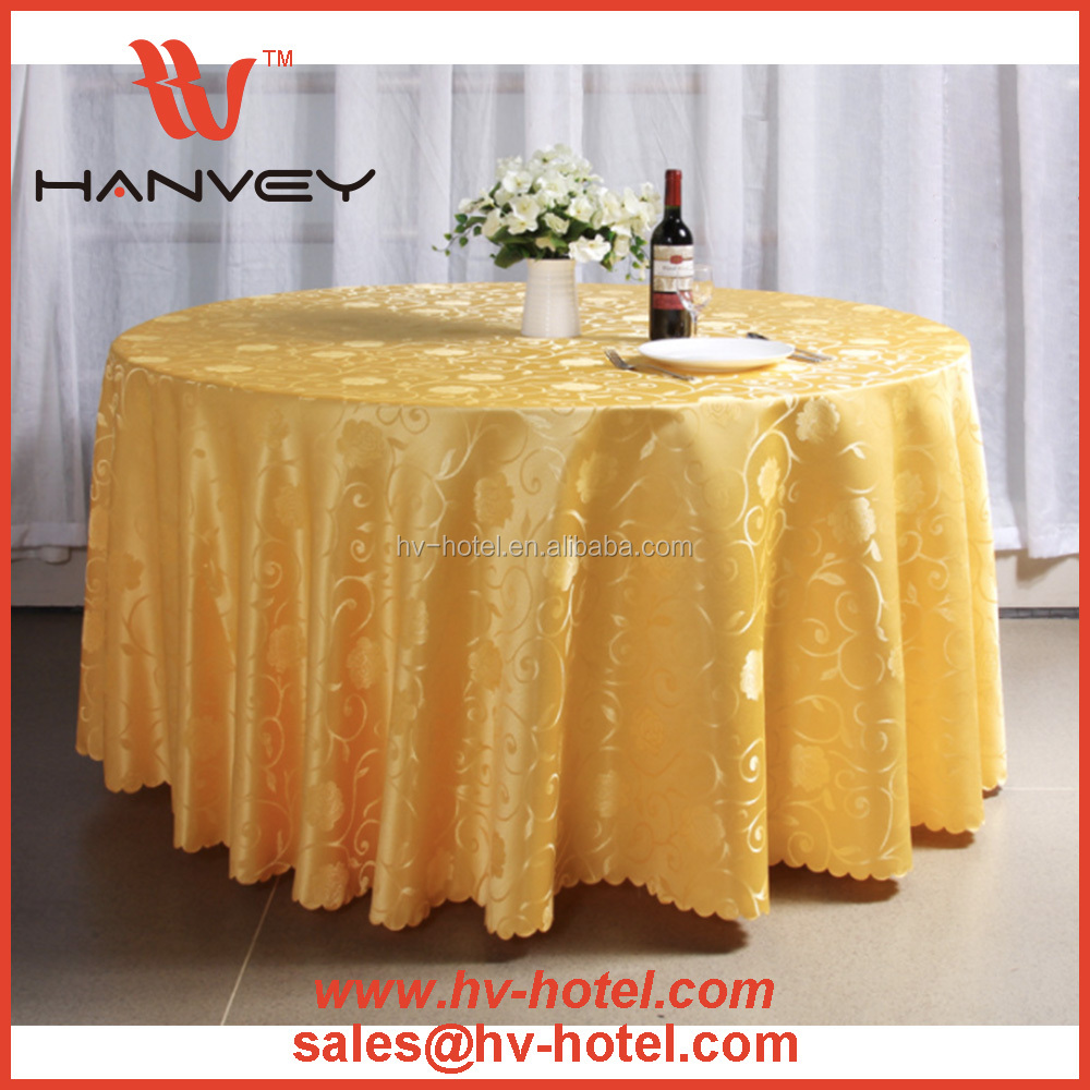 Factory price cheap custom round sequin rosette fancy wedding embroidery table cloth