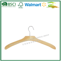 Luxury wooden hanger for clothes wholesale cheap hanger P42