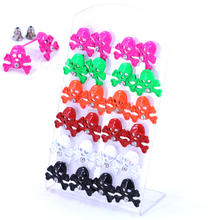 12pairs Set Packing Fashion Jewelry Cheap Cute Cartoon Design Colorful Paint Spray Alloy Stud Earrings