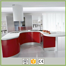Top quality waterproof round pvc modular kitchen cabinets
