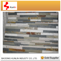 Quartzite Ledge Stone For Outside Wall/Cheap Price Quartz Culture Stone Mix Color