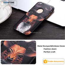 Super Hot! Animal Embossed Case for iPhone 5, Metal Bumper Back Cover for iPhone5