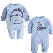Children's clothing wholesale H228 children winter cotton boat/monkey long sleeve rompers baby cute romper