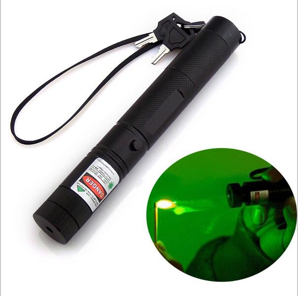 High power Adjustable Focus Burning Match Lazer 301 Green Laser Pointer with charger and battery