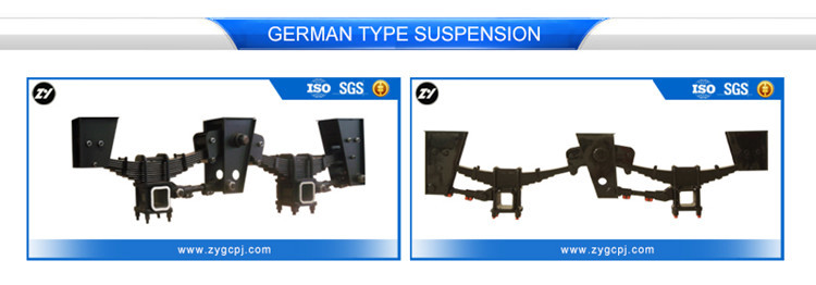 CIMC trailer parts German tridem suspension leaf spring suspension