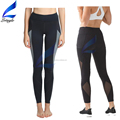 Mesh Insert Splicing Pockets Running Tights Fitness Yoga Leggings for Women