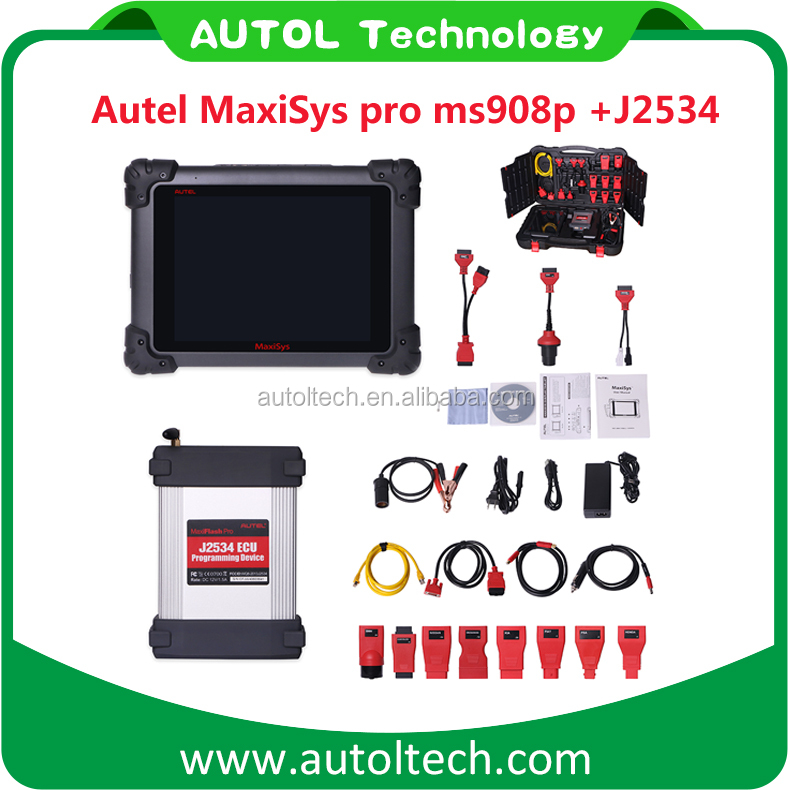 Original Autel MaxiSys Pro MS908P Auto Diagnostic Tool J2534 MS908P ECU Programming