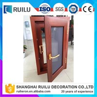 sound proof and weather proof Prefab house double glazed windows with folding fly screen