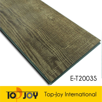 Wood like interlocking vinyl floor tiles