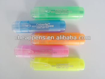 flat highlighter pen