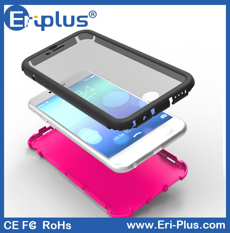 Eri-pius Custom 3 Layer Multicolor Waterproof Cell Phone Case For Iphone 6s