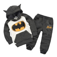 autumn winter boy set thermal Children Tracksuit kids clothing suit boys and girls hoodie and coat trousers