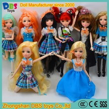 (YW-XJ161200) Wholesale DBS toys 10 inch dress up fashion plastic doll joints