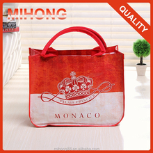 China supplier wholesale customized colorful printing laminated pp woven shopping tote bag