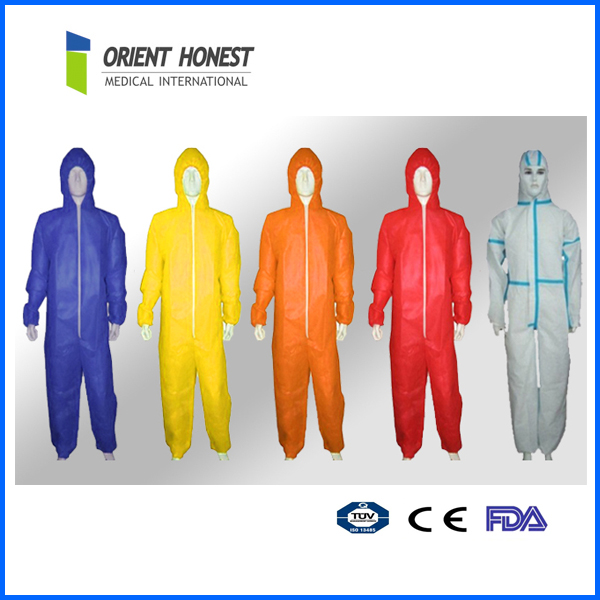 Cheap disposable one piece coverall uniform