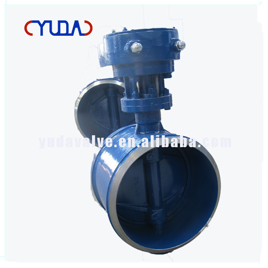 DN300 PN15 Carbon Steel Two Way Double Eccentric Electric Actuated Weld Butterfly Valve