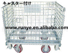 storage cage/folding wire mesh container save warehouse space