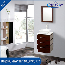 Simple small wall bathroom furniture cabinet wooden
