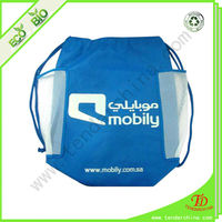drawstring bag with pocket for shopping and promotion