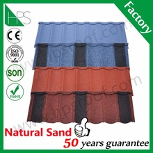 Color coffee brown stone coated metal roofing tiles