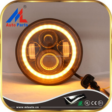 Water proof 4x4 7 inch round 40W color changing angle eyes LED headlight for Jeep Wrangler JK 2