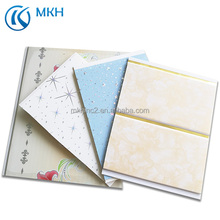 Manufactory Low Price High Quality Fireproof Plastic Laminated PVC Ceiling Panel Boards For Interior Wall Decorations