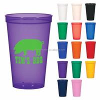 Plastic PP 22 OZ. Stadium Cup with lid