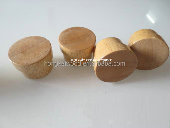 Custom solid wood glass bottle cap in good quality