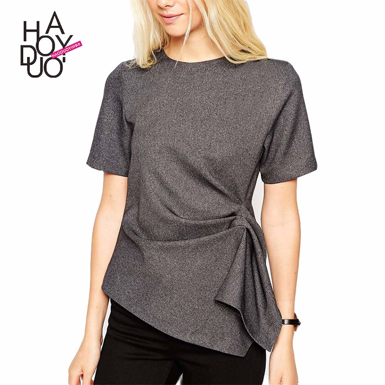 HAODUOYI Wholesale Custom Pattern Bamboo Cheap Women T Shirt with Good Quality