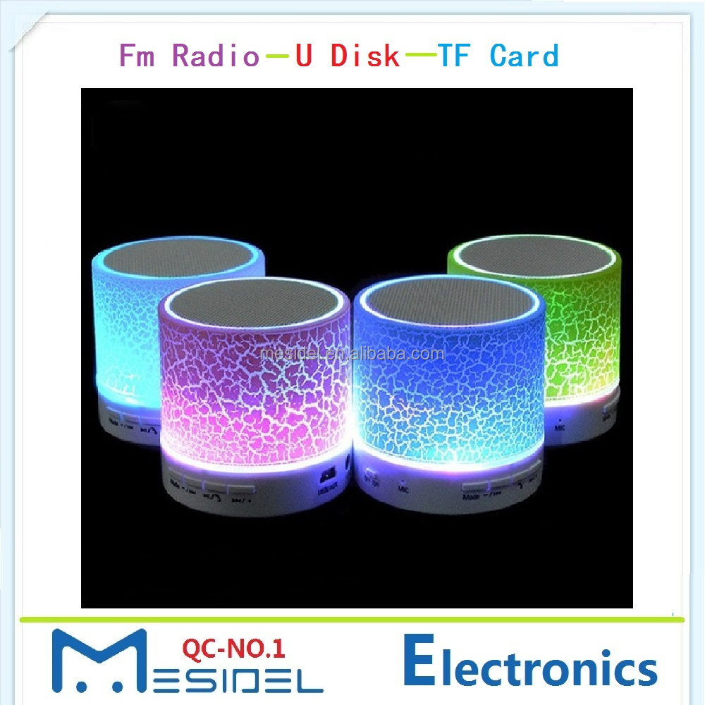 Led Mini Portable Hand-free PC Loudspeakers Wireless Music Bluetooth <strong>Speaker</strong> with Fm Radio Tf Usb Slot