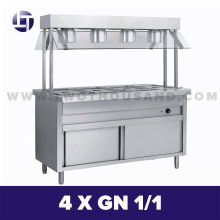 TT-WE1361B Electric Buffet Stainless Steel Bain Marie Food Warmer Counter