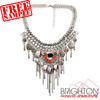 Luxury Rhinestone And Charm Statement Necklace