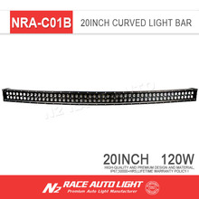 Accessories for the car offroad Led light bar 20 inch 120w dual row light bar car curved led light bars