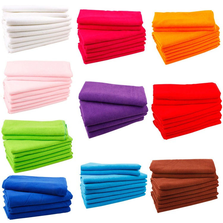 80% polyester 20% polyamide custom printed microfiber car cleaning towel