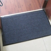 Heavy duty PVC ribbed mat with 100% polypropylene mat pile