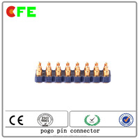 single row spring pin contactor,16pin Medical gold plated pin connector