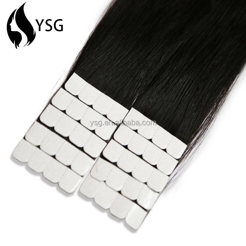 2016 new products in China tight loose wave human tape hair extension