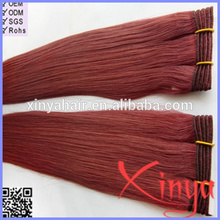 Wholesale Free weave hair packs color 99j hair weave red braiding hair