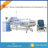 Cheap Movable Multifunction Steel Folding Hospital ICU care Bed for patient
